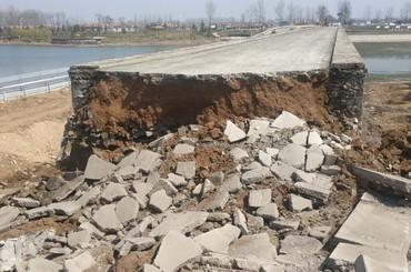 西海岸新区吉利河桥拆除重建工程启动